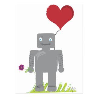 Robot Love Valentine Postcard