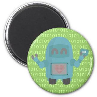 Robot Loves Computer Chips Magnet
