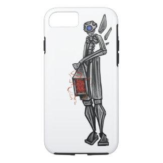 Robot Mech Gunner Geeky Sketch by: Adam McFadyen iPhone 7 Case