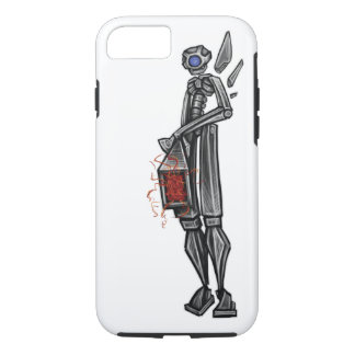 Robot Mech Gunner Geeky Sketch by: Adam McFadyen iPhone 8/7 Case