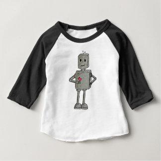 Robot meets a Bird Baby T-Shirt