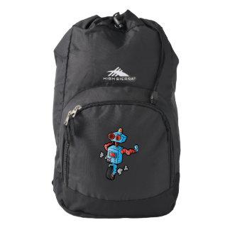 robot on wheel . backpack
