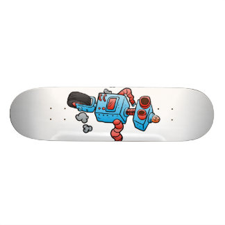 robot on wheel . custom skateboard