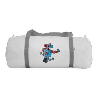robot on wheel . gym duffel bag