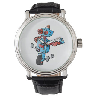 robot on wheel . wristwatches