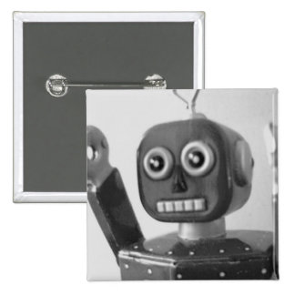 Robot Orange 2000 15 Cm Square Badge