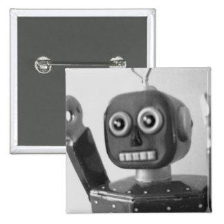 Robot Orange 2000 15 Cm Square Badge