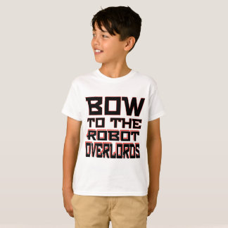 """Robot Overlords"" Kids' Hanes TAGLESS® T-Shirt"