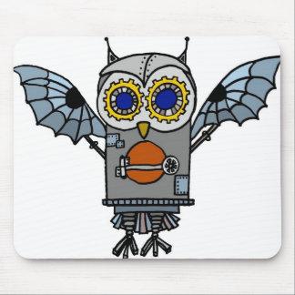 Robot Owl Mouse Pad