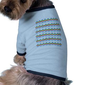 Robot pattern- doggie t shirt