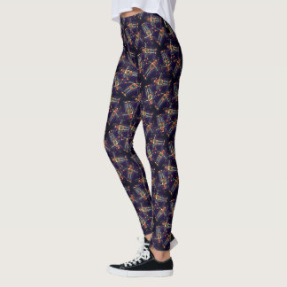 Robot Pattern Leggings