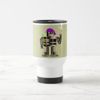 Robot Pirate Travel Mug