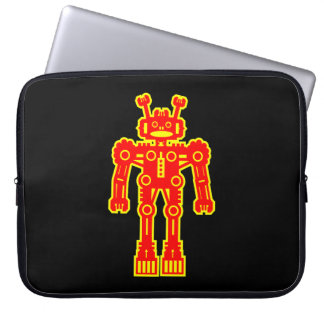 Robot - Red and Yellow Computer Sleeves