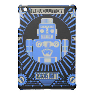 Robot Revolution Blue iPad Mini Covers