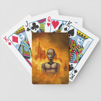 robot revolution scifi bicycle playing cards