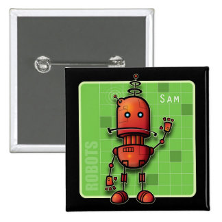 Robot Sam Button