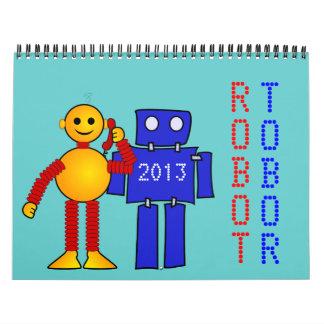 Robot sci-fi cartoon fun science fiction calendar