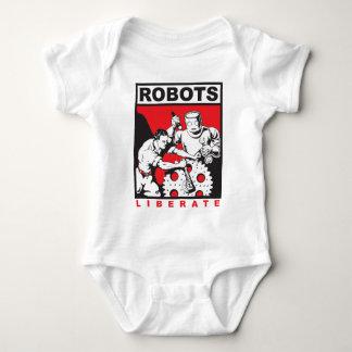 Robot sets you free baby bodysuit