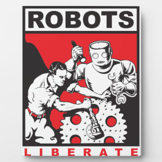 Robot sets you free display plaque