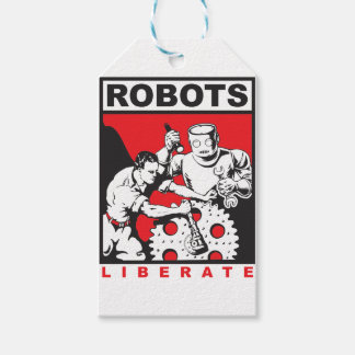 Robot sets you free gift tags