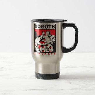 Robot sets you free travel mug