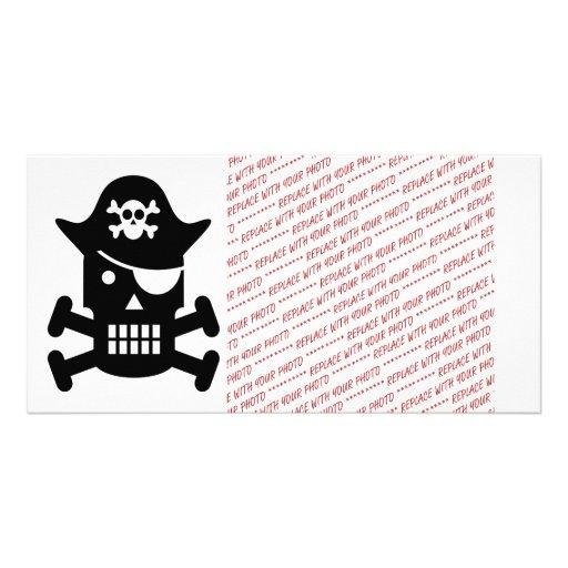 Robot Skull & Crossbones Pirate Silhouette Photo Greeting Card