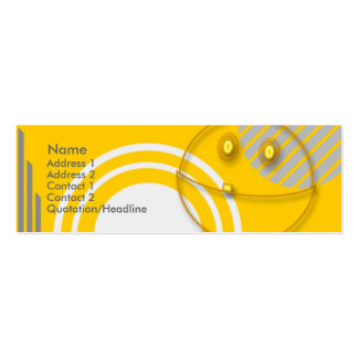 Robot Smiley Pack Of Skinny Business Cards