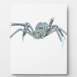 Robot Spider in Green and Silver Display Plaques