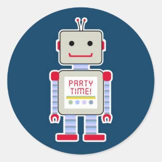 Robot Stickers Round Sticker