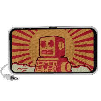 Robot Sunburst Mini Speakers