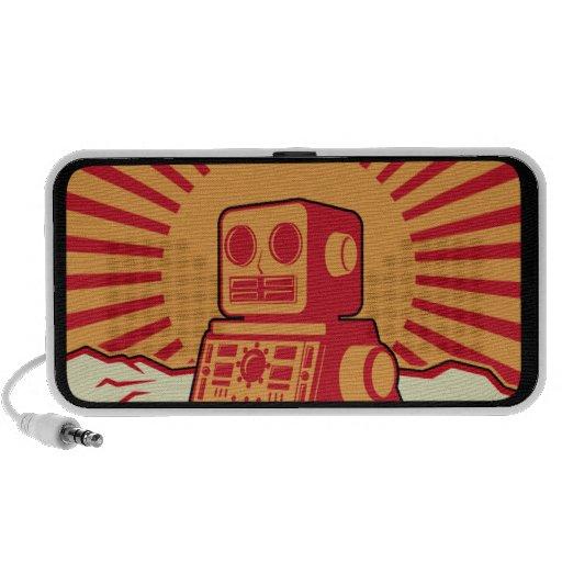 Robot Sunburst Travel Speakers