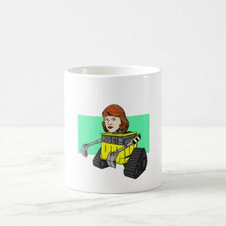 Robot Sylvia Plath Coffee Mug