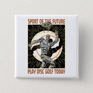 Robot Thrower #1 15 Cm Square Badge