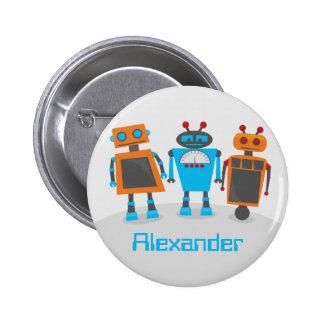 Robot Trio 6 Cm Round Badge