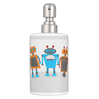 Robot Trio Soap Dispenser And Toothbrush Holder