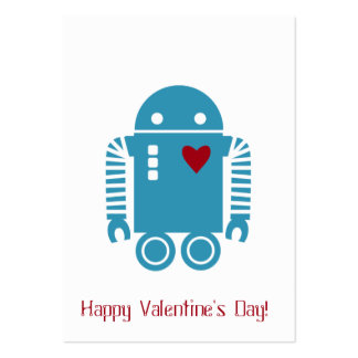 Robot Valentine - Blue Pack Of Chubby Business Cards
