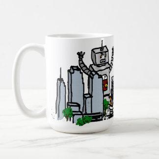 Robot vs City Coffee Mug
