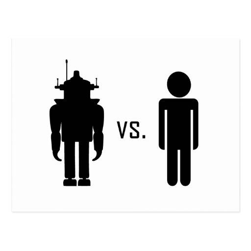 Robot vs. Human Post Card