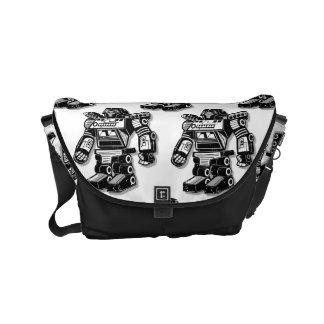 Robot warrior messenger bag