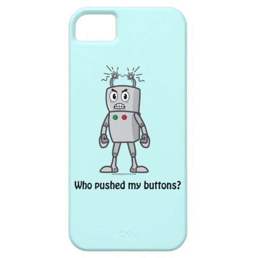 Robot: Who Pushed My Buttons? iPhone 5 Cases