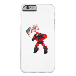 Robot with American Flag Boys for 4th of July Barely There iPhone 6 Case