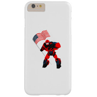 Robot with American Flag Boys for 4th of July Barely There iPhone 6 Plus Case