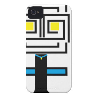 ROBOTIC CARTOON A iPhone 4 CASE