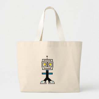 ROBOTIC CARTOON A LARGE TOTE BAG