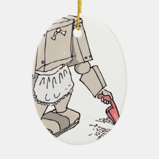 Robotic Vacuum Cleaner Ceramic Ornament