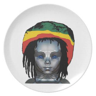 Robotics Rastafarian Plate