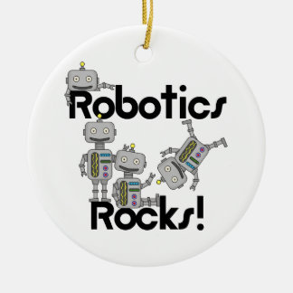 Robotics Rocks Ceramic Ornament