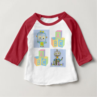Robots and ABC Blocks Baby T-Shirt