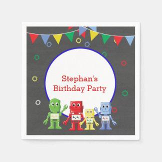 Robots Birthday party napkins Disposable Napkin