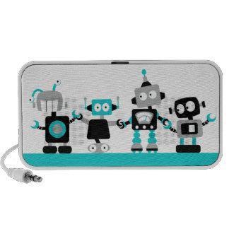 Robots - Blue Mini Speakers